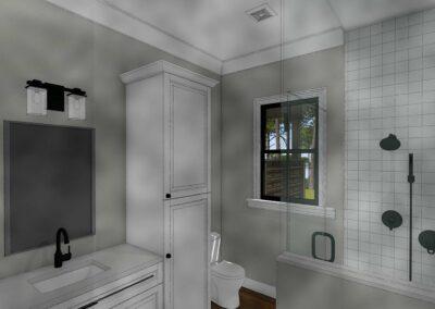 Intracoastal guest bathroom rendering